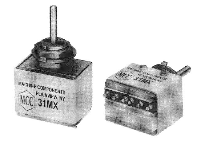 Joystick Toggle Switch On Machine Components Corp