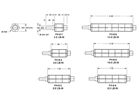 Spring Wrapped Friction Hinge Miniature for Controlled Braking – FH-8 Series - Dimensions