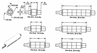 Spring Wrapped Friction Hinge Miniature for Controlled Braking – FH-10 Series - Dimensions