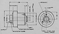 Spring Wrapped Coupling-Decoupling Clutch - Dimensions